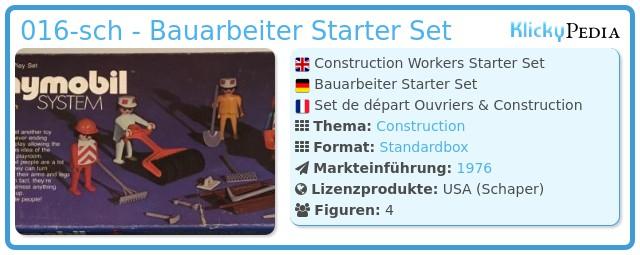 Playmobil 016-sch - Bauarbeiter Starter Set