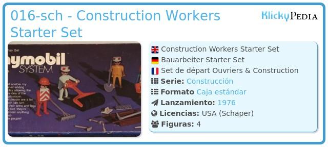 Playmobil 016-sch - Construction Workers Starter Set