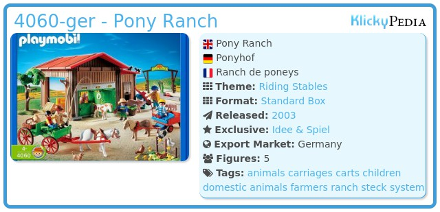 Playmobil 4060-ger - Pony Ranch