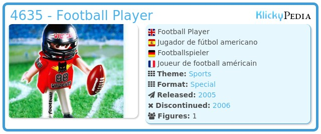 Playmobil 4635 - Football Player