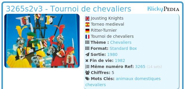 Playmobil 3265s2v3 - Tournoi de chevaliers