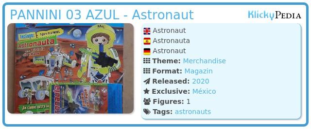 Playmobil PANNINI 03 AZUL - Astronaut