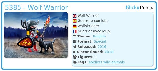 Playmobil 5385 - Wolf Warrior