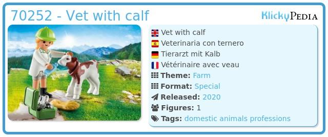 Playmobil 70252 - Veterinary with calf