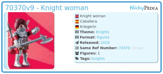 Playmobil 70370-09 - Knight woman