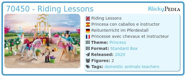 Playmobil 70450 - Riding Lessons