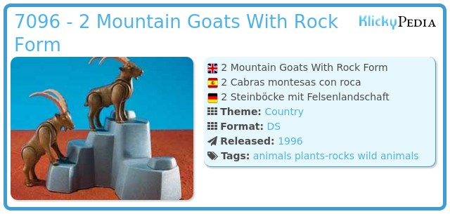 Playmobil 7096 - 2 Mountain Goats With Rock Form