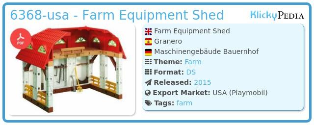 Playmobil 6368-usa - Farm Equipment Shed