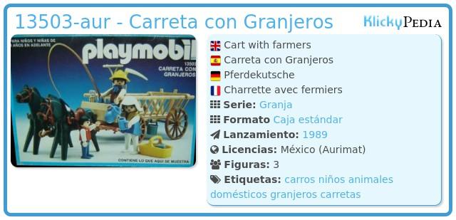 Playmobil 13503-aur - Carreta con Granjeros