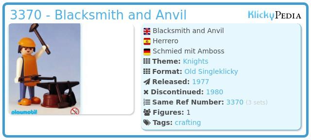 Playmobil 3370 - Blacksmith and Anvil