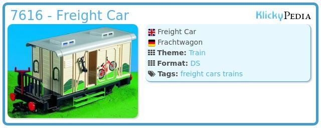 Playmobil 7616 - Freight Car