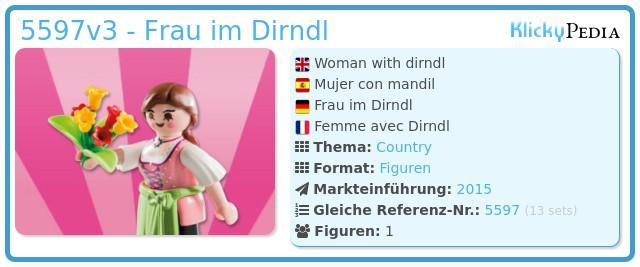 Playmobil 5597v3 - Frau im Dirndl
