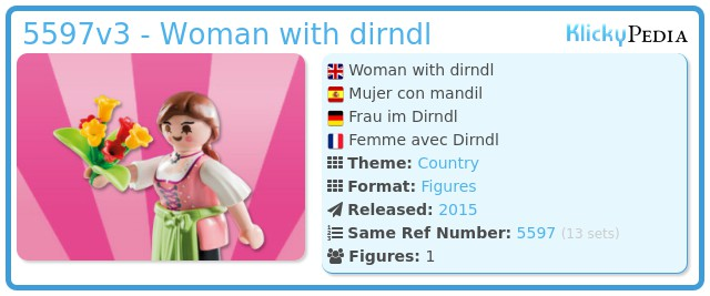 Playmobil 5597v3 - Woman with dirndl