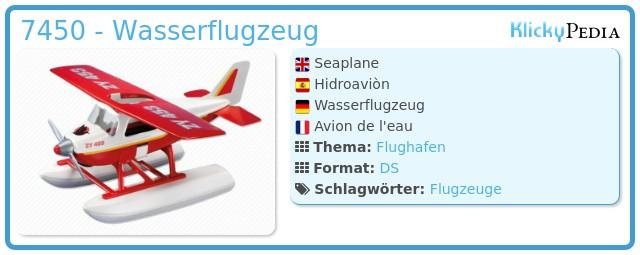 Playmobil 7450 - Wasserflugzeug