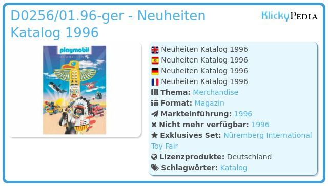 Playmobil D0256/01.96-ger - Neuheiten Katalog 1996