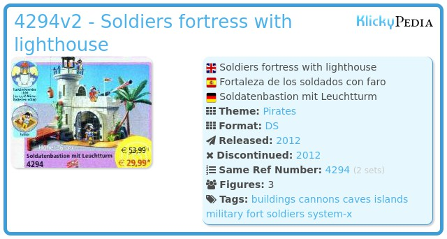 Playmobil 4294v2 - Soldiers fortress with lighthouse