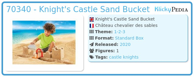 Playmobil 70340 - Knights Castle Sand Bucket
