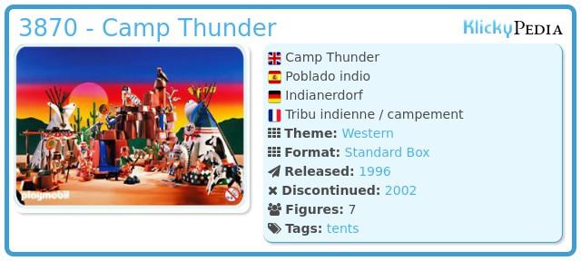 Playmobil 3870 - Camp Thunder