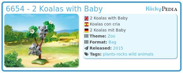 Playmobil 6654 - 2 Koalas with Baby