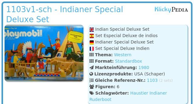 Playmobil 1103v1-sch - Indianer Special Deluxe Set