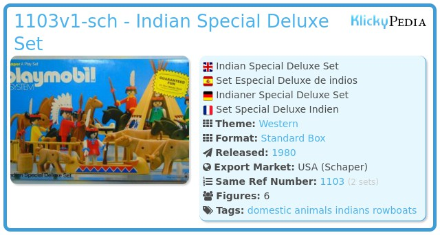 Playmobil 1103v1-sch - Indian Special Deluxe Set