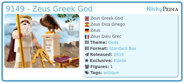 Playmobil 9149-gre - Zeus Greek God