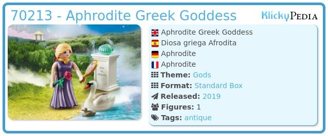 Playmobil 70213-gre - Aphrodite Greek Goddess