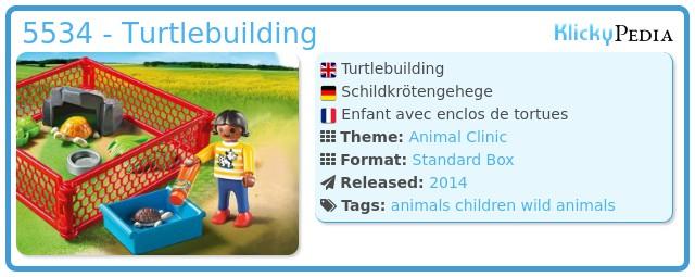 Playmobil 5534 - Turtlebuilding