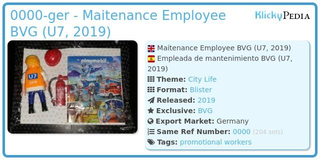 Playmobil 0000-ger - Maitenance Employee BVG (U7, 2019)