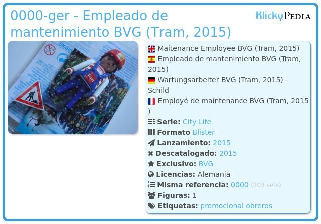 Playmobil 0000-ger - Empleado de mantenimiento BVG (Tram, 2015)