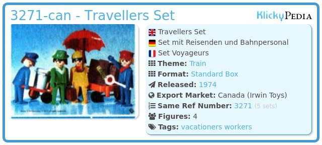 Playmobil 3271-can - Travellers Set