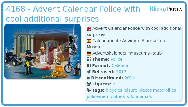 Playmobil 4168 - Advent Calendar Police with cool additional surprises