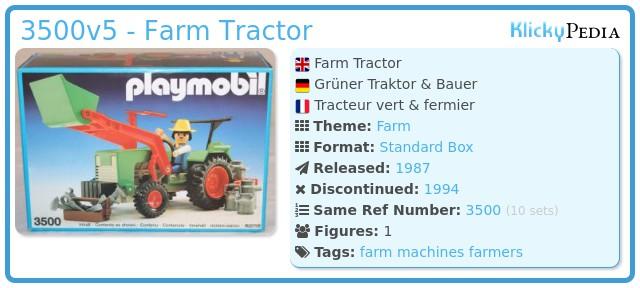 Playmobil 3500v5 - Green Tractor & Farmer