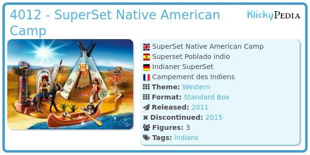 Playmobil 4012 - SuperSet Native American Camp