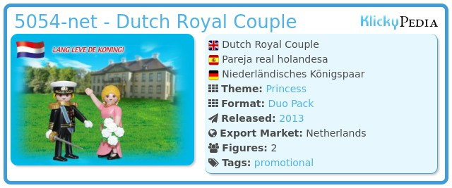 Playmobil 5054-net - Duo Pack Dutch Royal Couple