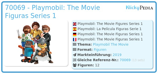 Playmobil 70069 - Playmobil: The Movie Figuras Series 1