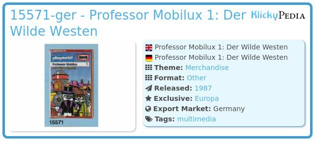 Playmobil 15571-ger - Professor Mobilux 1: Der Wilde Westen