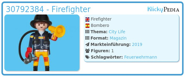 Playmobil 30792384 - Firefighter