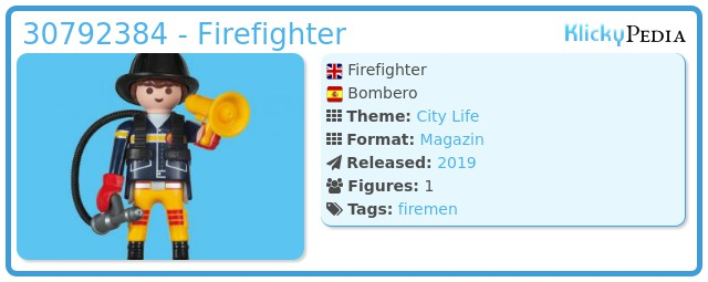 Playmobil 30792384 - Firefighter