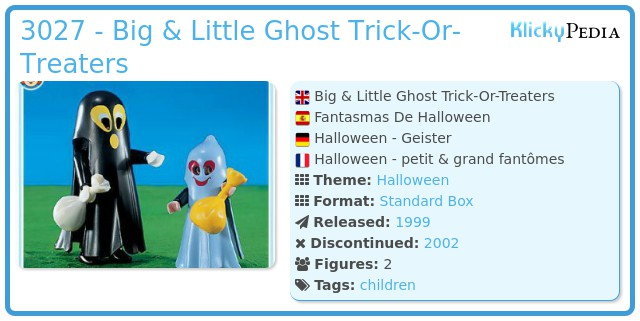 Playmobil 3027 - Big & Little Ghost Trick-Or-Treaters