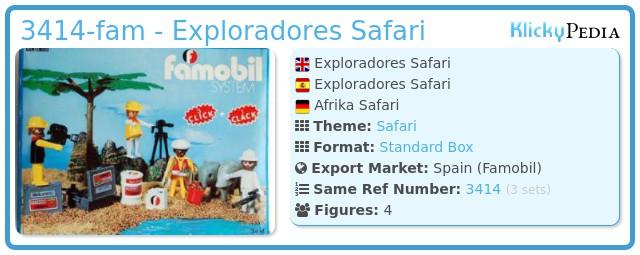 Playmobil 3414-fam - Exploradores Safari