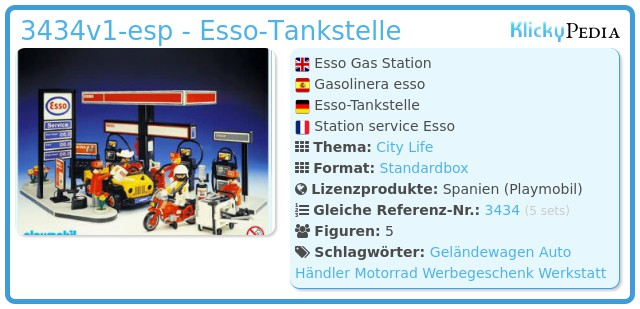 Playmobil 3434v1-esp - Tankstelle Esso