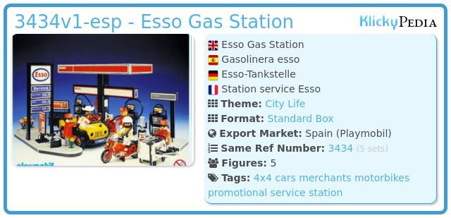 Playmobil 3434v1-esp - Esso Gas Station