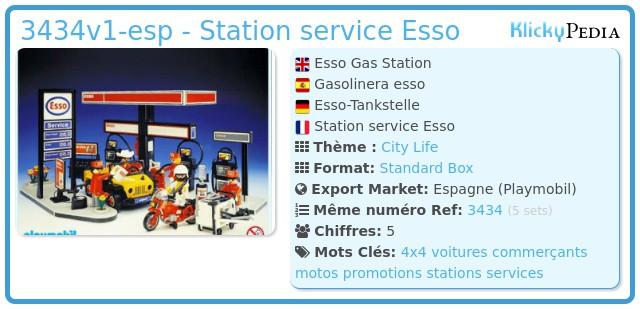 Playmobil 3434v1-esp - Station service Esso