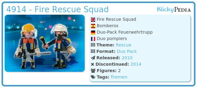 Playmobil 4914 - Fire Rescue Squad