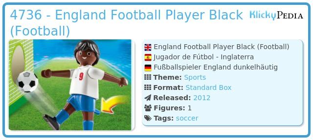 Playmobil 4736 - England Football Player Black (Football)