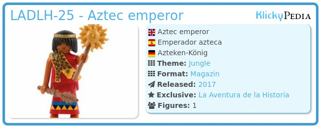 Playmobil LADLH-25 - Aztec emperor