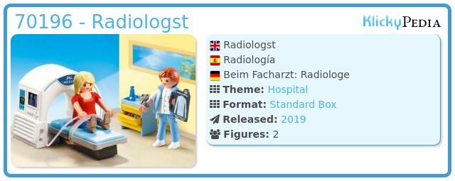Playmobil 70196 - Radiology