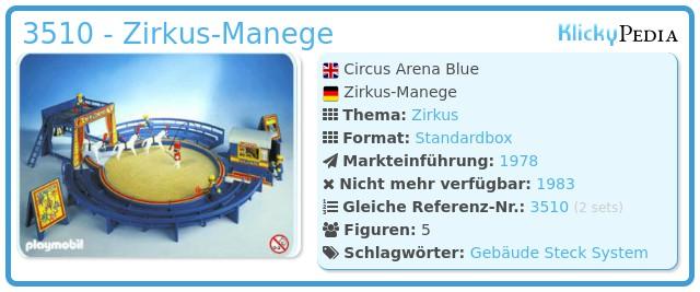 Playmobil 3510 - Zirkus-Manege