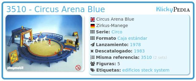 Playmobil 3510 - Circus Arena Blue